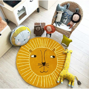 Lion Play Mats Kids Crawling Carpet Floor Rug Baby Bedding Rabbit Blanket Cotton Game Pad Children Room Decoration LJ201118