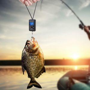 40kg / 10g escala colgante Escala digital Retracción de fondo Pesca de pesca electrónica Escala de bolsillo Escalas de equipaje Black Cocina Peso Herramienta GWD4482