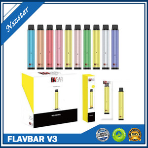 Original Flavbar V3 Disposable Pod Device 2000 Puffs 1100mAh Battery Authentic Vape Stick Pen System Adjustable bottom Pen Pod kits