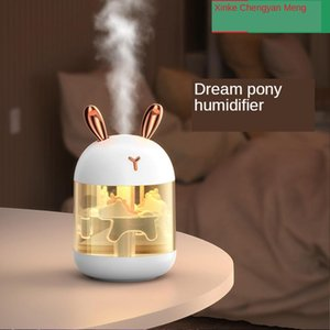 New cute usb mini humidifier mute desktop bedroom air purifier for home gift
