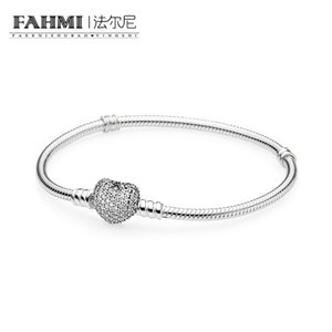 FAHMI 100% 925 Sterling silver 1:1 Original Authentic 590727CZ Charm Basic Bracelet Suitable DIY Beaded Women Jewelry