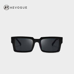 AEVOGUE mujeres rectangular marco transparente brecha diseñador retro gafas de sol unisex cuadrado marrón UV400 AE0664