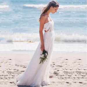 Full Lace Beach Wedding Dress 2021 Summer Sweetheart Sexy Backless Boho Bride Gowns A Line Vestidos De Novia