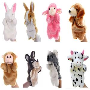 Hand Puppets Plush Animal Toys for Imaginative Pretend Play Stocking Storytelling Bunny Dog Milk Cow Koala Monkey Sheep
