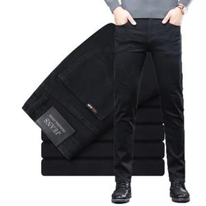 Shan Bao Rahat Ince Pamuk Streç erkek Denim Jeans 2021 Bahar Marka Klasik Retro Iş Rahat Fit Trendy Kot H1209