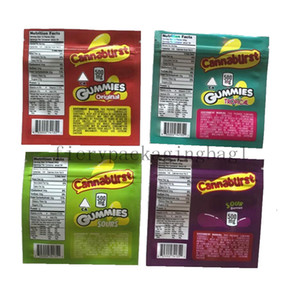 Nuevos 4 Tipos 500 mg Embalaje comestible Gummmies Packaging Oler Bolsos a prueba de olor Aure 2021df Equipajes Vaciar caramelo Mylar Bolsas JIW8
