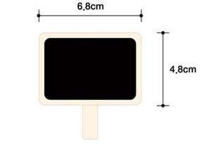 Mini nota de madera Blackboard Abrazaderas Retangle Pizarra Blackboard Clip Tag Tablero de mensaje para la fiesta de boda Papel Foto DIY