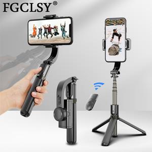 FGClsy يده Gimbal Stabilizer Smartphone Selfie Stick for iPhone 11 Pro Max Samsung Xiaomi Vlog الهاتف المحمول Gimbals Y1128