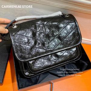 Mode Niki Umhängetasche Medium Shopping Handtaschen Geldbörse Carmen Lai Womens Echtes Leder Handtasche Totes Damen Messenger Crossbody Taschen