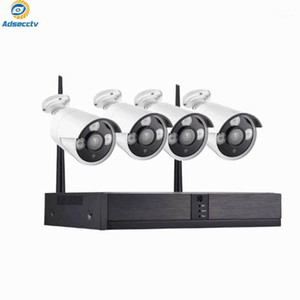 DIY Wi Fi Wireless NVR Kit 4CH Home Security CCTV System Waterproof IP Camera real plug and play Video Surveillance Set1