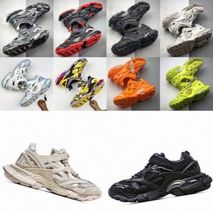 2021 Track2 Yayın 4.0 Parça 2 Tasarımcı Koşucular Ayakkabı Üçlü S Adam Erkek Bayan Slayt Sandal Spor Rahat Ayakkabılar Paris Eğitmenler Sneaker T2LY #