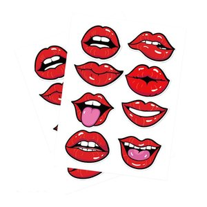 New Face Masks Sticker Smile Lips Decalques para Máscaras Face 10sheet / lote GWA3018