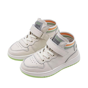 Children's Mid-top Casual Shoes Kids Flat-bottomed Non-slip Student Sneakers Boys Girls Fall Mesh Breathable Basketball Shoes