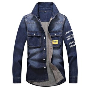 denim jacket Men's Autumn Winter Casual Vintage Wash Distressed Denim Jacket Coat Top bomber men jaqueta jeans masculina
