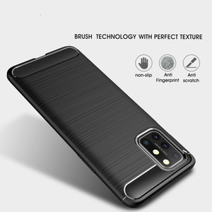 Business case For Oneplus 7 7T 6T 8 9 Pro 8T Carbon Fiber Brushed TPU Phone Back Case Cover For One PLUS Nord Z