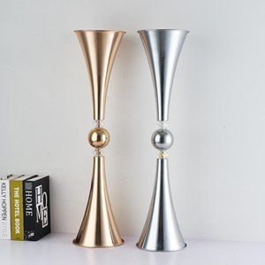 Vases Metal Candle Holders Candlesticks Wedding Centerpieces Event Flower Road Lead Home Decoration 10 PCS  Lot SN4934