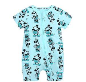 2020newborn Baby Clothes Print Short Sleeve Cotton Baby Boy&girls Rompers Clothing Zipper Jumpsuits Pajama jllFvm book2005