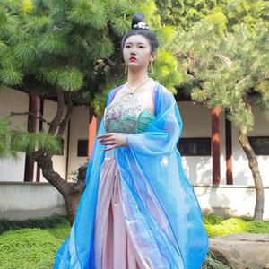 Chinese Queen Costume Tang Dynasty TV Filmer Fairy Robe Photographie Prise de vue en extérieur Scène de danse Sexy Scène