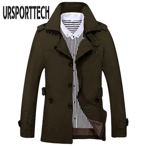 Autumn Mens Jackets And Coats 2020 New Fashion Casual Breathable Cotton Cargo Windbreaker Jacket Male Slim Fit Solid Thin Coat