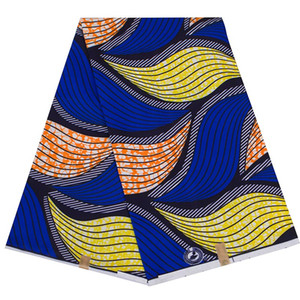 African Polyester Wax Prints Fabric Ankara New BintaRealWax High QualityHandworking Cloth African Fabric for Party Dress