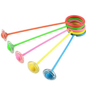 Hot Selling Children Flash Jumping Rope Ball Colorful Anklet Sports Swing Ball Toy Force Reaction Training Child-parent Games Y1127
