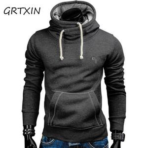 New Spring Autumn Felpe con cappuccio Uomo Fashion Brand Pullover Solid Color TurtleNeck Sportswear Felpa da uomo Tracksuits da uomo Moleton