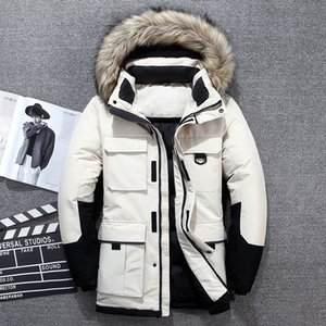 -40 Degrees White Duck Down Jacket Men Thick Winter 2020 NEW Big Real Fur Collar Warm Parka Waterproof Windproof Top Quality Y1120