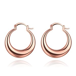 Round Earrings in Gold Color Brand New Design Fashion Charm Hoop Eearrings For Women Brincos Wedding Party Jewelry