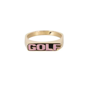 GOLF WANG No Strings gold ring Hip hop Street rap accessories men's and women's rings