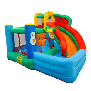 Garden Supplie Commercial Inflatable Jumping Castles Inflatables Kids Bouncer Slide Jumper Castle Watermelon Fruit Theme Children's Sports Playground Play
