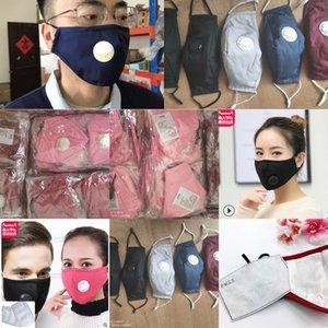 2.5 Бесплатная доставка FedEx моющиеся многоразовые лица PM MASK с подушками с вентилятором клапанов 100% хлопчатобумажная ткань хорошее качество с двумя подушками