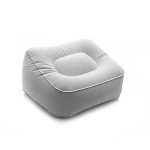 Portable Inflatable Foot Rest Pillow Cushion PVC Air Travel Office Home Leg Up Footrest Relaxing Feet Tool DEC889