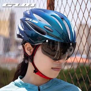 GUB K80 Plus Cascos con la adsorción de los vidrios del imán moldeado integralmente camino de MTB Bike Cap Safe Men Las mujeres Casco de Ciclista