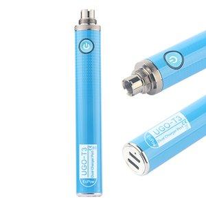 ECPOW UGO-T3 ön ısıtma VV Pil Değişken Voltaj Ön ısıtma 1300mAh Için Boş Vape Kalem Kartuşu Için Çift Şarj Portu Fişi
