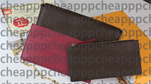brand designer Genuine Leather shouder Bag handbag purse original box date code fashion wholesale checker plaid flower cross body 61267