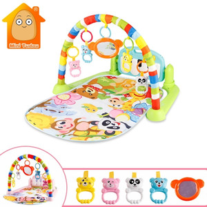 Baby Gym Tapis Puzzles Mat Educational Rack Toys Baby Music Play Mat With Piano Keyboard Infant Fitness Carpet Gift For Kids Q1120