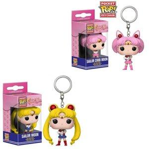 Funko Pop Sailor Moon Sailor Moon Keychain Puppe Anhänger Bunny Pocket Mond Hase