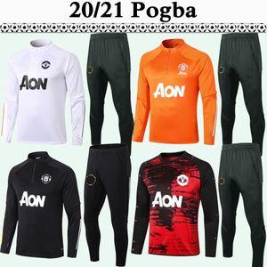20 21 Pogba Rashford Training Anzug Herren Fußball Trikots Matic Lingard Martial James Cavani Trainingsanzug Orange Black Football Hemden