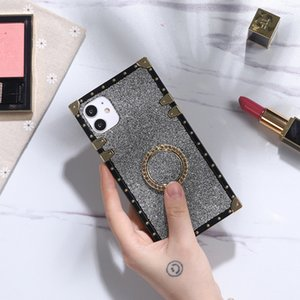 Square Shimmering Back Cover for Samsung S20 A31 M31 A40 A60 M40 M11 A21S A10E M51 LG Stylo 4 5 6 K51 K61