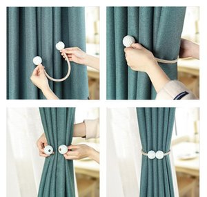 Venda Quente Cortina Magnética Cortina Cortina Tieback Buckle Clipes Pendurar Bola Buckle Tie Back Sheer Cortinas Acessórios Decoração Home