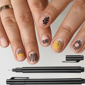1PC Nail Art Graffiti Pen Waterproof Painting Drawing Liner Brush DIY Flower Pattern Fine Details Manicure Nail Art Beauty Tool