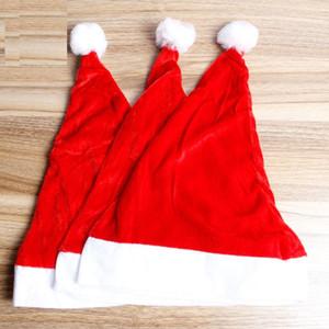 Xmas Red Cap Velvet Santa Hat Women Men Boys Girls Party Hat for Christmas Decoration WB3062