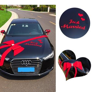 Wedding Car Decoration Romantic Bowknot Party Car Decorations Colorful DIY Bow-knot Letter Heart Wedding Decoration