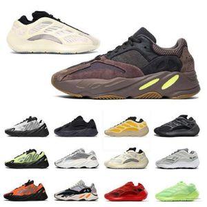 700 v2 رخيصة 3 متر عاكس البرتقال العظام موجة عداء الرجال النساء الاحذية أحذية رياضية الصلبة رمادي التناظرية تيل الكربون الأزرق الأحذية الأحذية