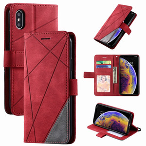 Stand Business Phone Holster For Redmi 7 7A 8 8A Note 8T 9 Pro K30 K20 10X Mi Poco X3 Nfc Stripe Wallet Rhombus Case Cover D21G