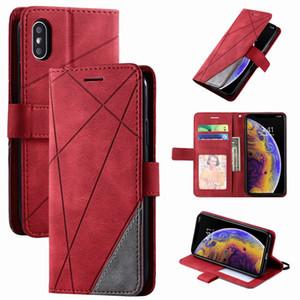 Стенд бизнес телефона кобура для Redmi 7 7A 8 8A Примечание 8T 9 PRO K30 K20 10x MI POCO X3 NFC Нашивка Уолтовой кошельки Ромб Чехол D21G