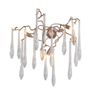 design crystal wall lights modern copper wall sconce AC110V 220 lustre LED wandlampe living room bedroom lamp