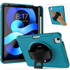 """Military Extreme Heavy Duty pc shockproof case for iPad 8 iPad8 iPad air 4 10.9"""" 10.9 inch 11 tablet case stand holder hand strap DHL"""