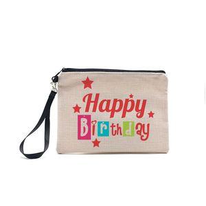 Sublimation Bag White Zipper Blank Cosmetic Wristlets Thremal Pouch Transfer DIY Handbag Makeup Heat Purses Printing Wallets F12070 Kbwwg