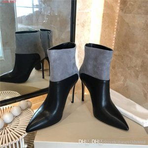 Womens autumn winter boots with stiletto heels of 2019,a stylish pair of leather pumps with pointed toes and heels of 10.5 cm